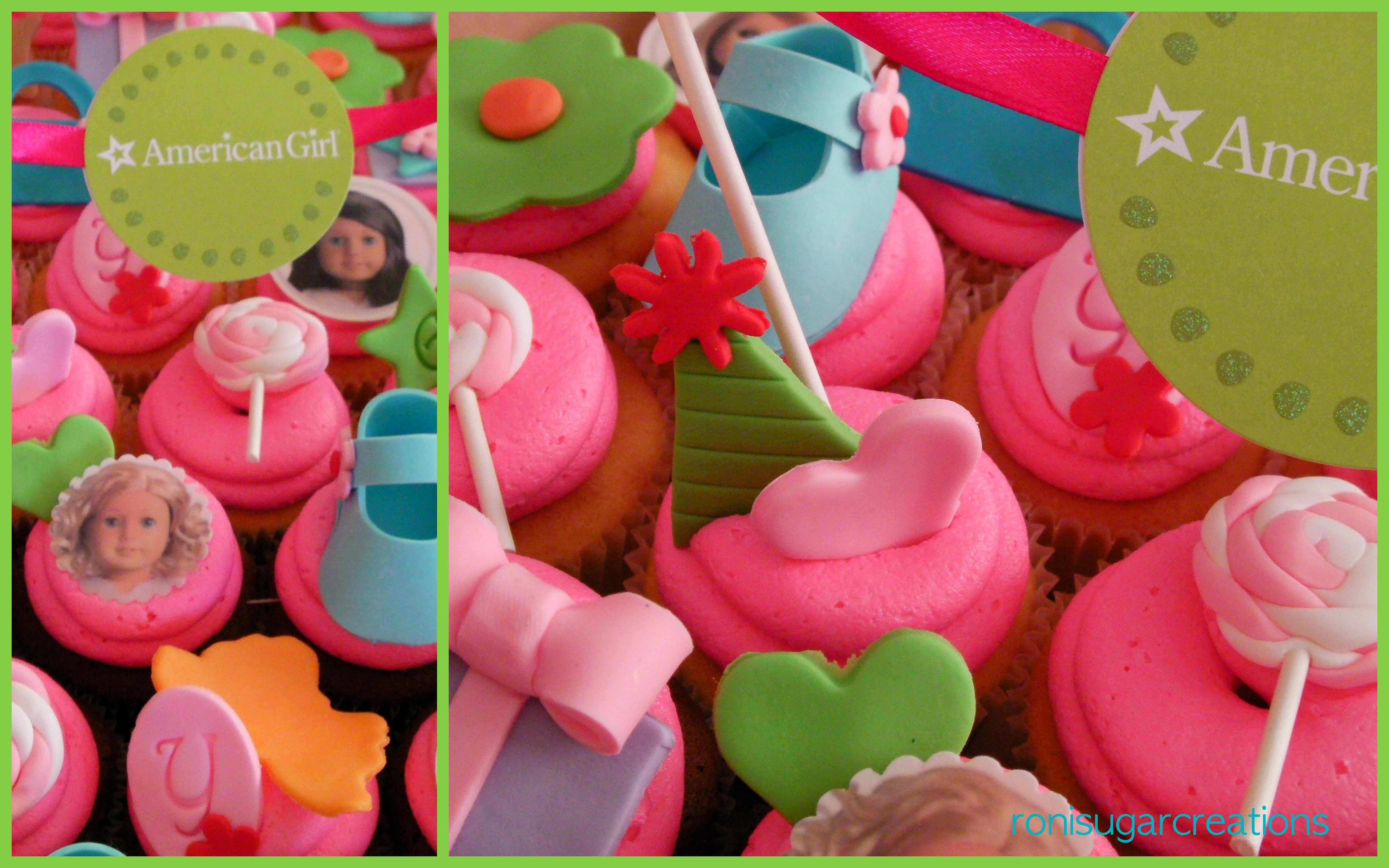 Roni-American Gill doll cupcakes