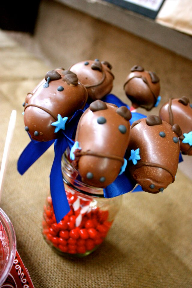 Horse cake pops we made for birthday boy.